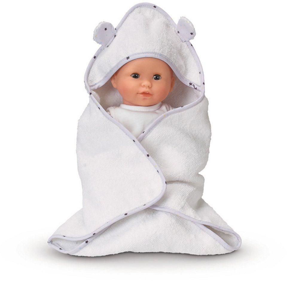 Corolle Kapuzenhandtuch für Puppen, »BB30 Bademantel und Unterwäsche« in weiß