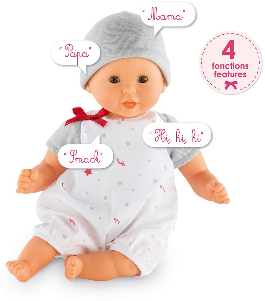 Corolle Interaktive Babypuppe mit Sprachfunktion, »Calin Bisou 30cm« in weiß