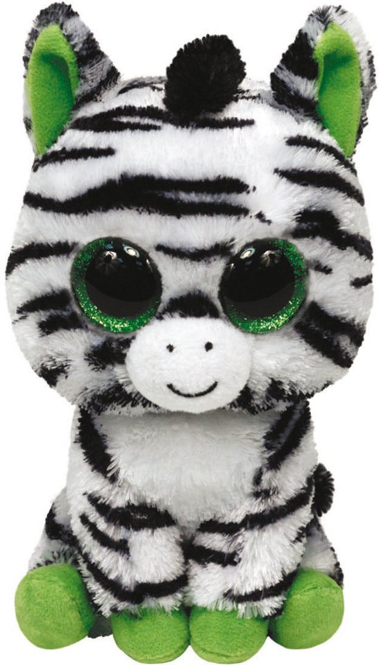 ty kuscheltier mit glitzeraugen beanie boo s glubschi s buddy zig zag zebra large 24 cm. Black Bedroom Furniture Sets. Home Design Ideas