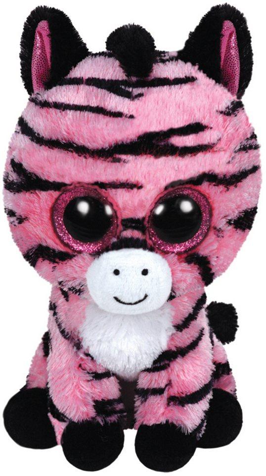 Ty Kuscheltier mit Glitzeraugen, »Beanie Boo´s™ Glubschi´s® Buddy Zoey Zebra, Large 24cm« in rosa-schwarz
