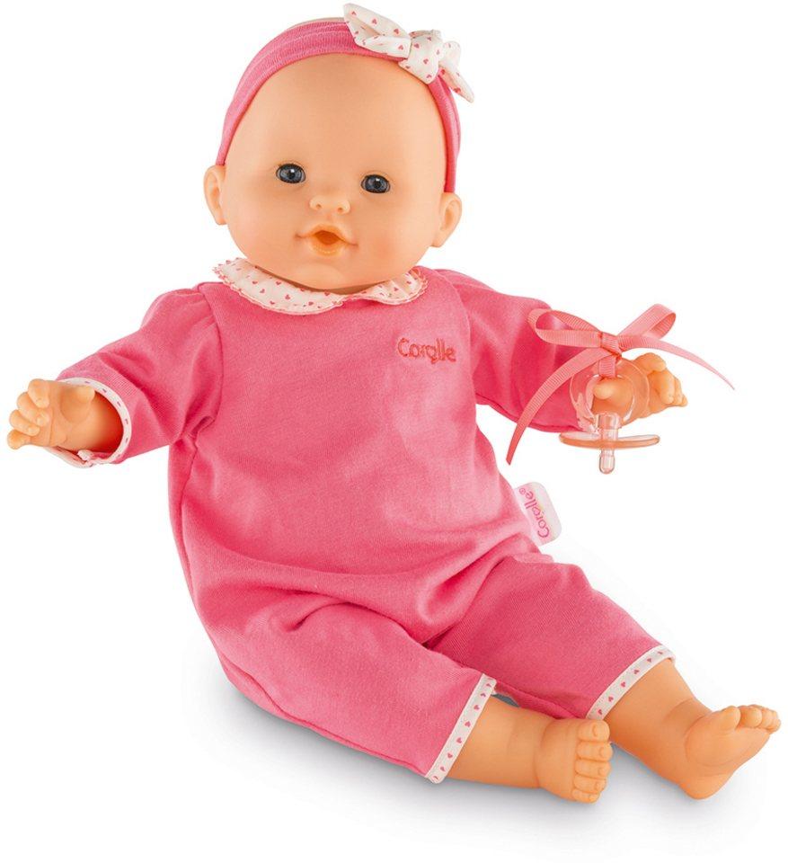 Corolle Babypuppe mit Schnuller, »Mon Bebe Classique rosa 36cm« in pink
