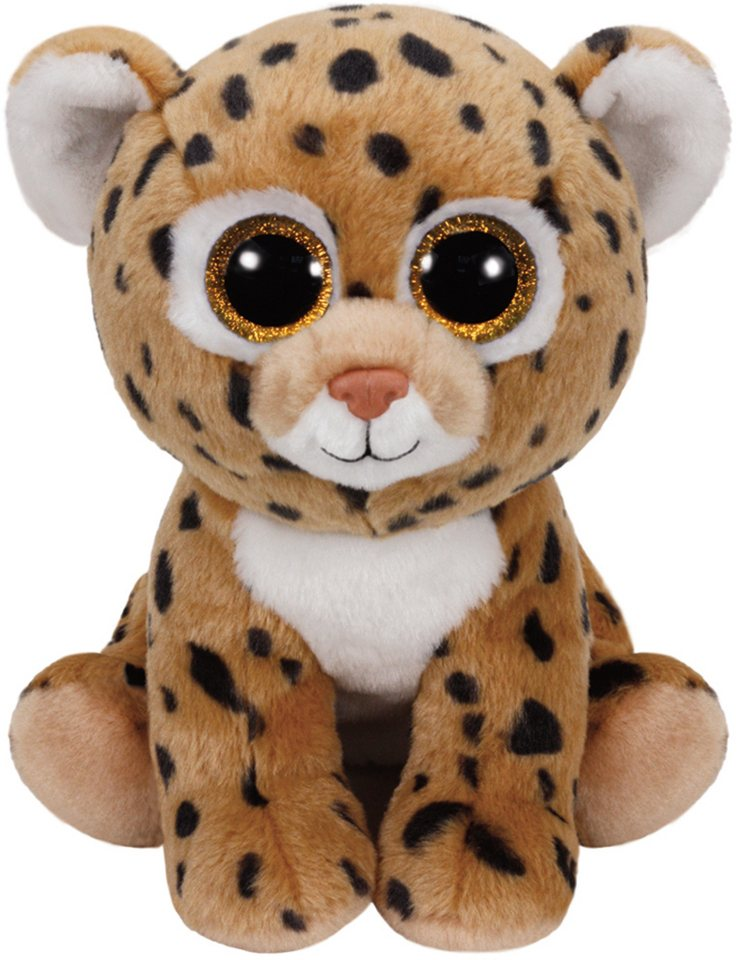 Ty Kuscheltier mit Glitzeraugen, »Beanie Classic Freckles Leopard, 24 cm« in braun
