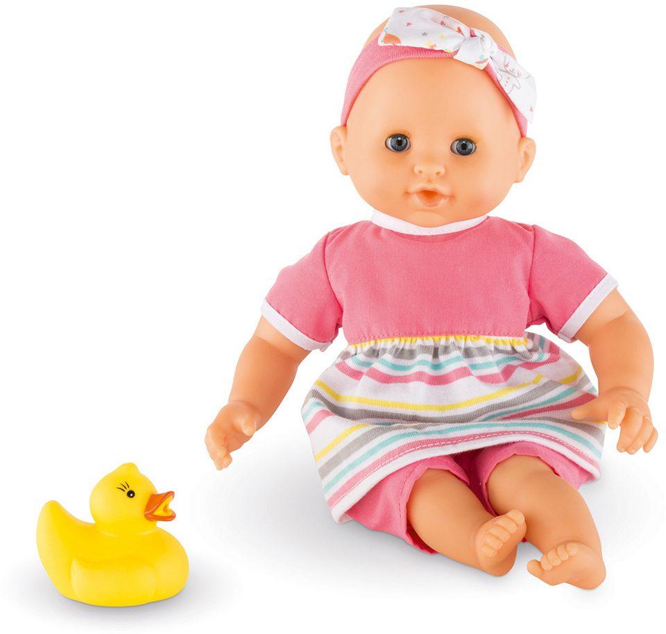 Corolle Babypuppe mit gelber Quietscheente, »Badepuppe Mädchen 30cm«