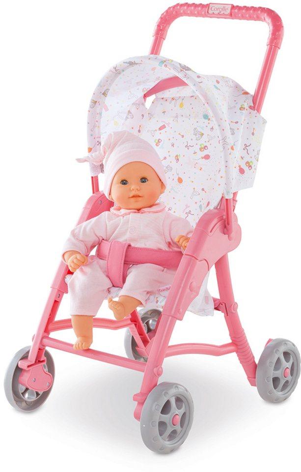 Corolle Puppenwagen mit Sonnenverdeck, »Sitzbuggy Mon Premier 30cm rosa« in rosa