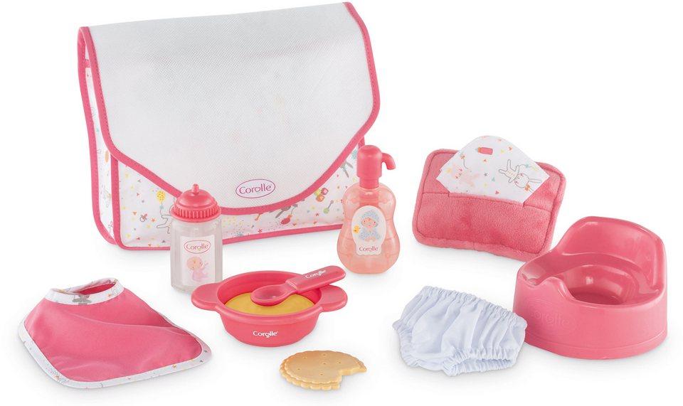 Corolle Zubehörset für Puppen, »Set Zubehör Mon Premier« in rosa