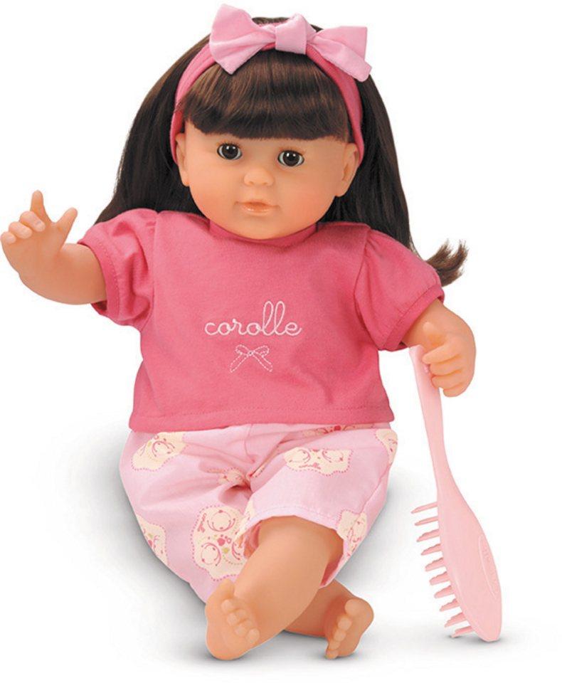 Corolle Puppe mit braunen Haaren, »Mon Bebe Classique Brunette 36cm« in rosa