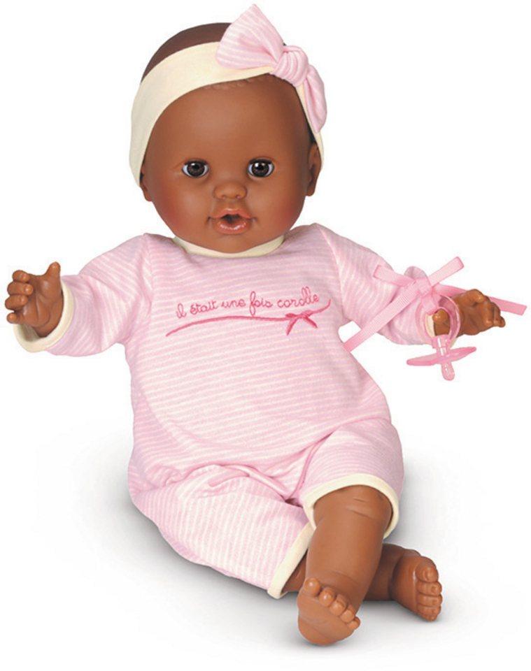 Corolle Babypuppe mit Schnuller, »Mon Bebe Classique dunkelhäutig rosa 36cm« in rosa