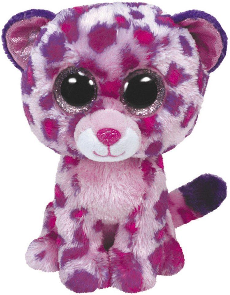 Ty Kuscheltier mit Glitzeraugen, »Beanie Boo´s™ Glubschi´s® Buddy Glamour Leopard, Large 24cm« in pink