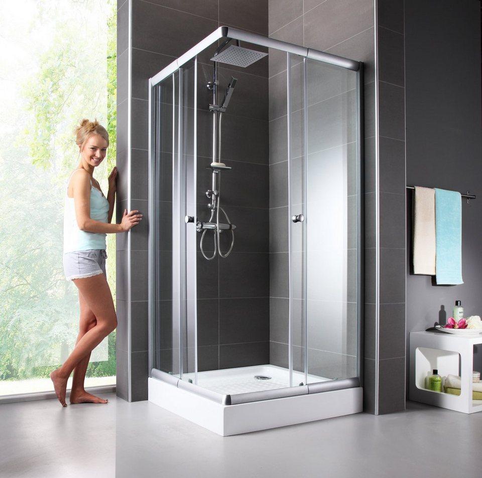 Eckdusche trento variabel verstellbar 80 90 cm for Bilder duschkabinen