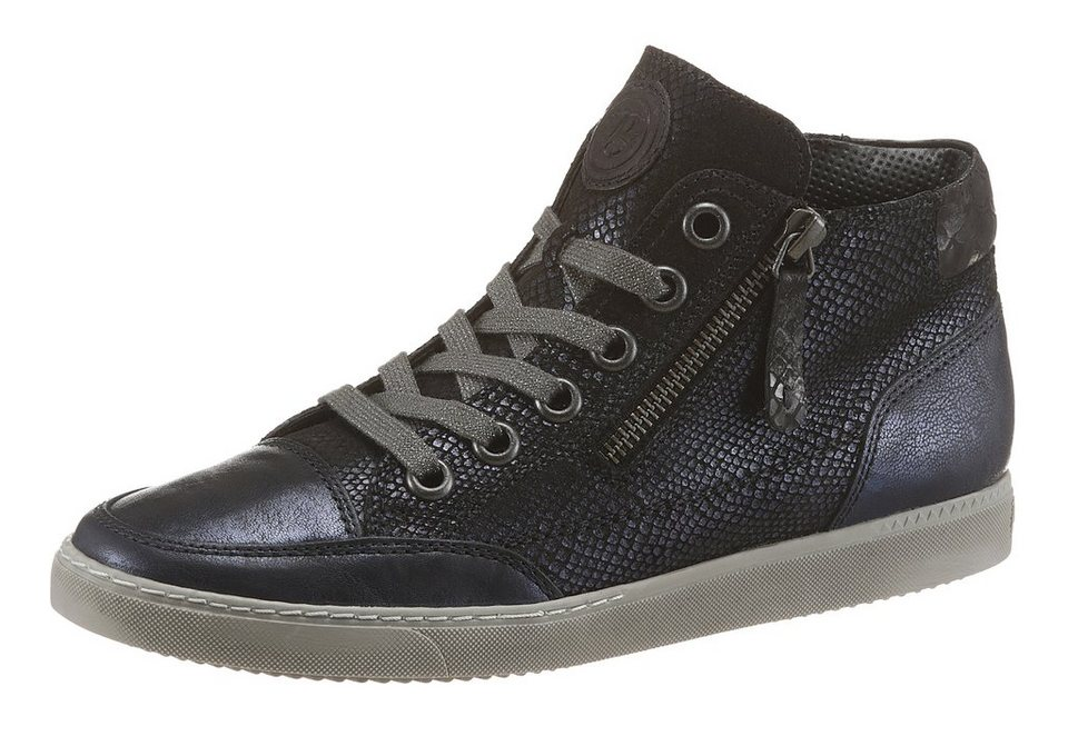 Paul Green Plateausneaker in Snake-Optik in blau