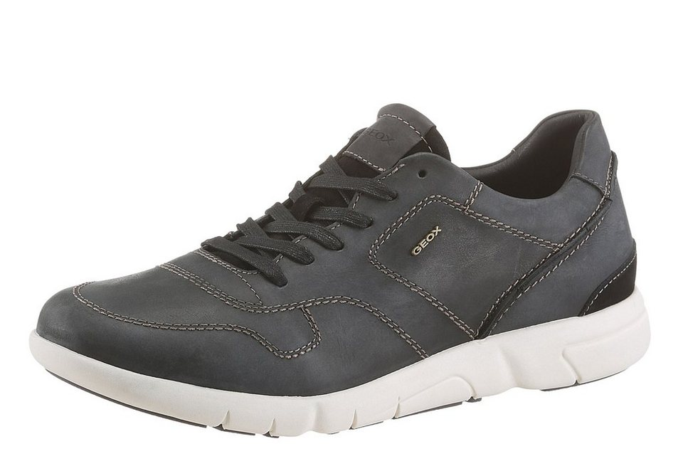 Geox Sneaker mit Ziernähten in dunkelgrau-graphit-grau-used