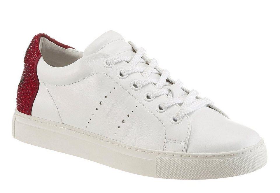 Lola Cruz Sneaker in weiß-rot