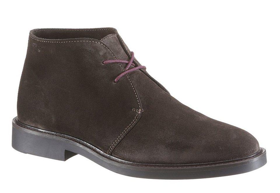 Gant Footwear »Spencer« Schnürboots mit Ziernähten in dunkelbraun