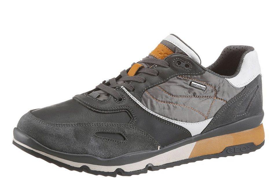 Geox Sneaker im Materialmix in hellgrau