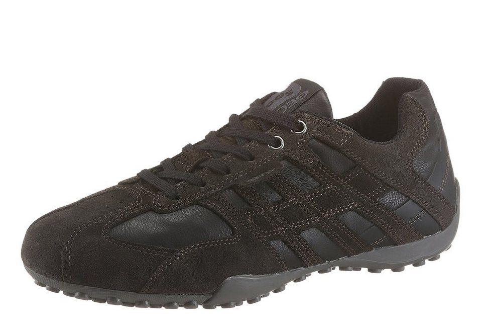 Geox Sneaker im Materialmix in dunkelbraun