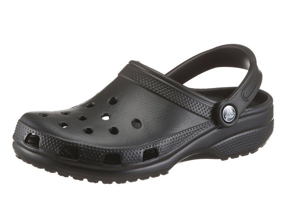 Crocs »Classic« Clog mit Fersenriemen in schwarz