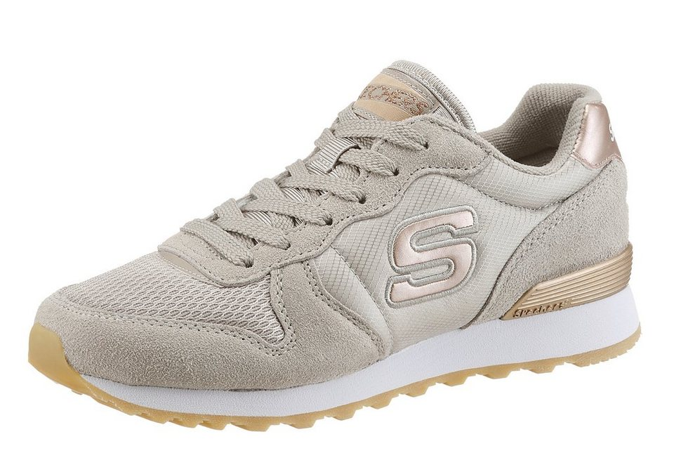 Skechers »GoldN Gurl« Sneaker mit Memory Foam in taupe-goldfarben