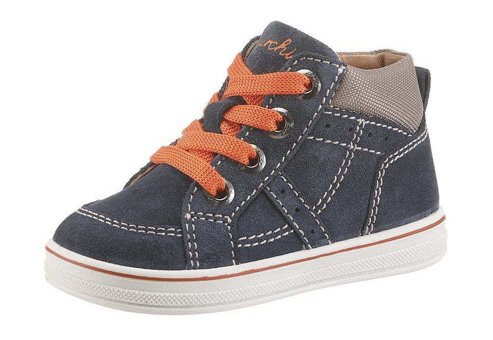 Lurchi Stiefel herausnehmbare Sohle in navy-orange