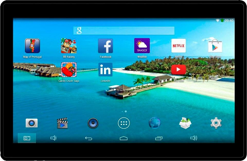 Denver TAQ-10182 Tablet-PC, Android 5.1, Quad-Core, 25,7 cm (10,1 Zoll), 1024 MBDDR-RAM in schwarz