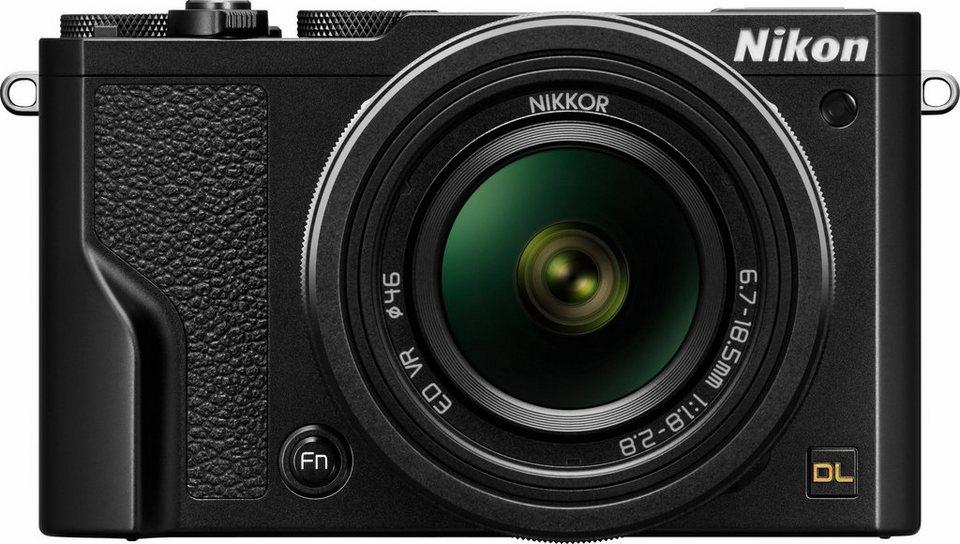 Nikon DL 18–50 mm f/1.8–2.8 Kompakt Kamera, 20,8 Megapixel, 2,8x opt. Zoom, 7,5 cm (3 Zoll) Display in schwarz