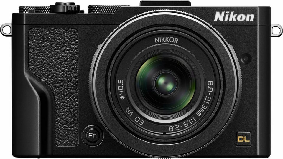 Nikon DL 24–85 mm f/1.8–2.8 Kompakt Kamera, 20,8 Megapixel, 3,6x opt. Zoom, 7,5 cm (3 Zoll) Display in schwarz