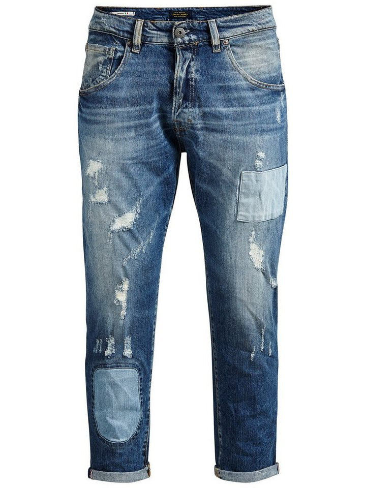 Jack & Jones Frank Cropped BL 675 Regular fit Jeans in Blue Denim