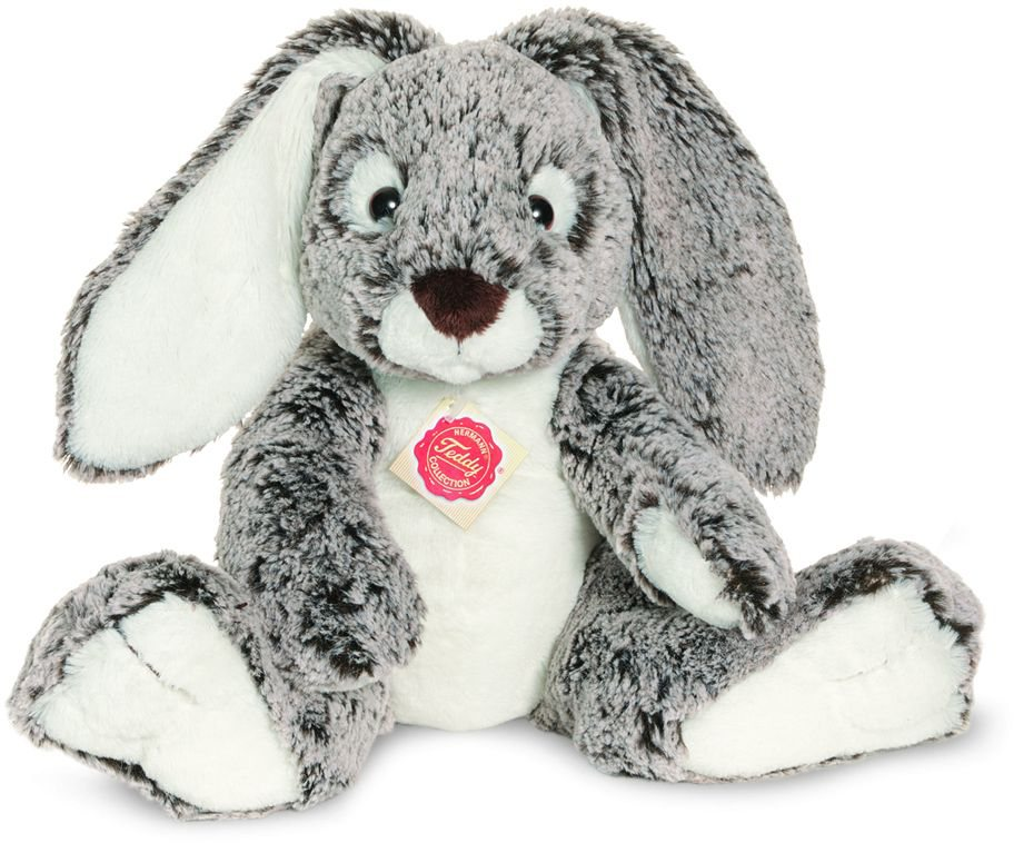 Teddy Hermann® COLLECTION Plüschtier, »Schlenkerhase, 28 cm« in grau-weiß
