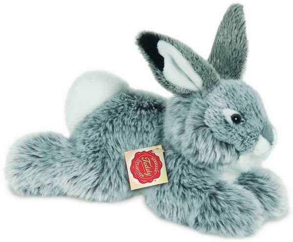 Teddy Hermann® COLLECTION Plüschtier, »Hase liegend grau, 28 cm« in grau