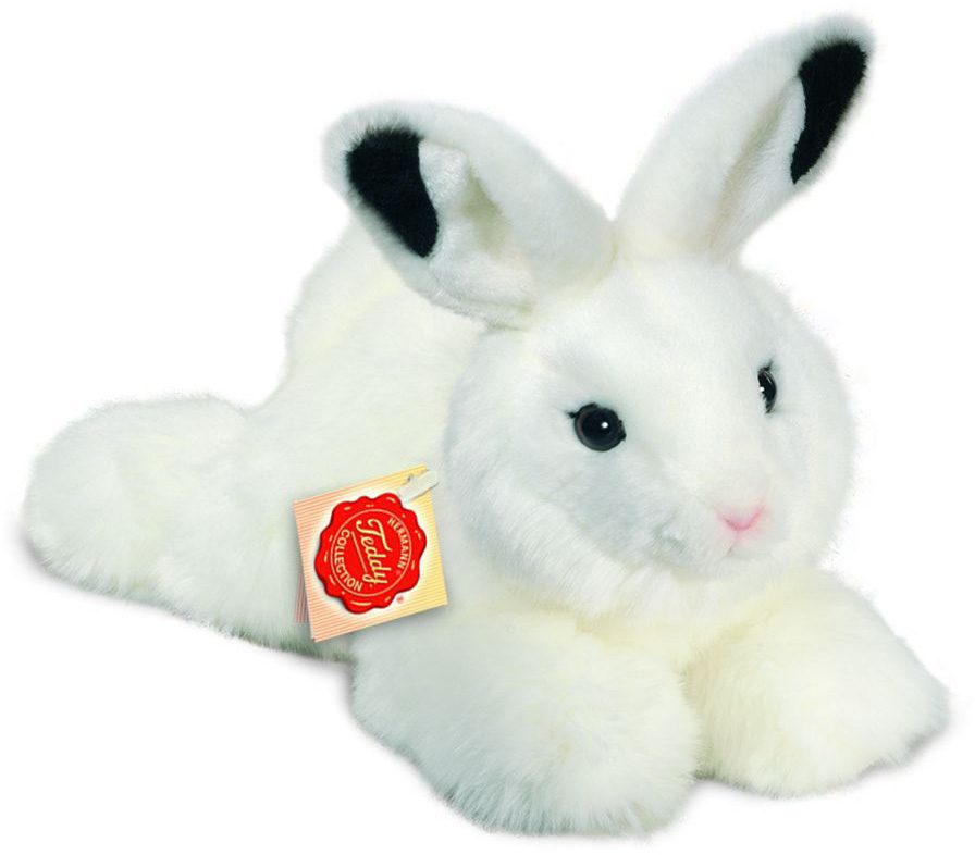 Teddy Hermann® COLLECTION Plüschtier, »Hase liegend weiß, 28 cm«