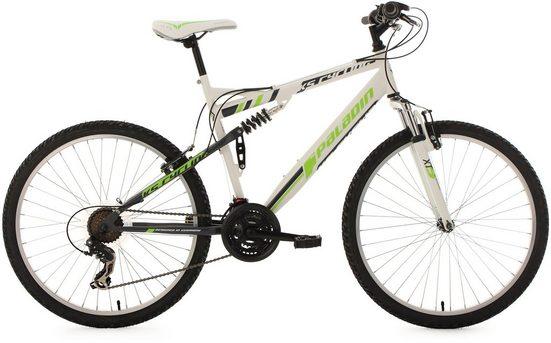 KS Cycling Fully-Mountainbike, 26 Zoll, 21 Gang-ShimanoTourney Kettenschaltung, »Paladin«