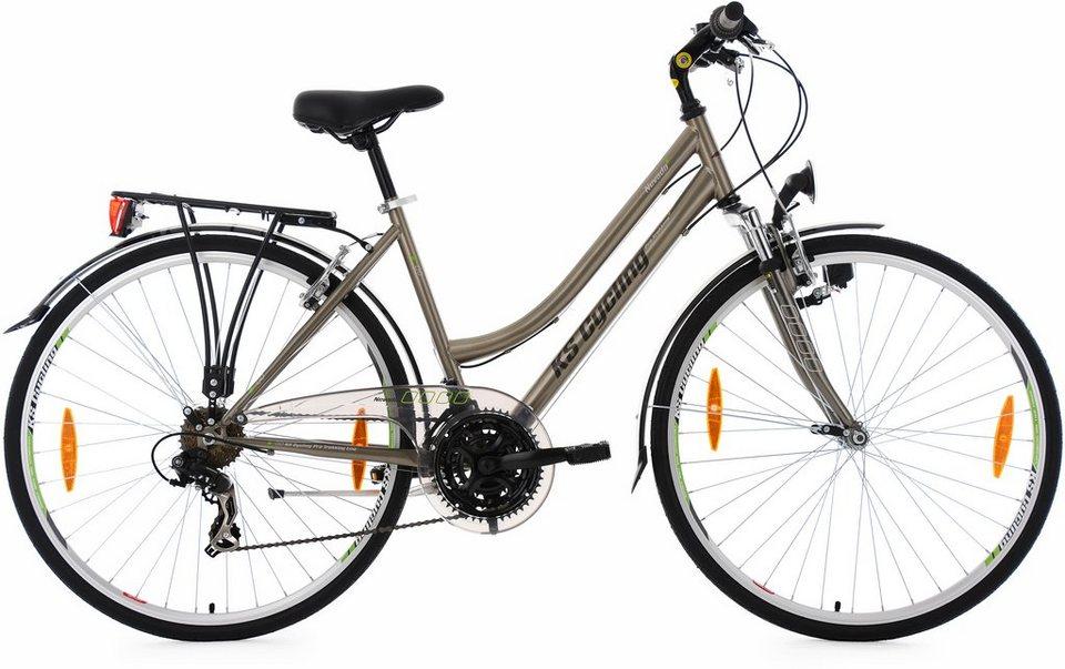 KS Cycling Damen-Trekkingrad, 28 Zoll, Shimano Tourney TX 21 Gang-Kettenschaltung, »Nevada« in bronzefarben