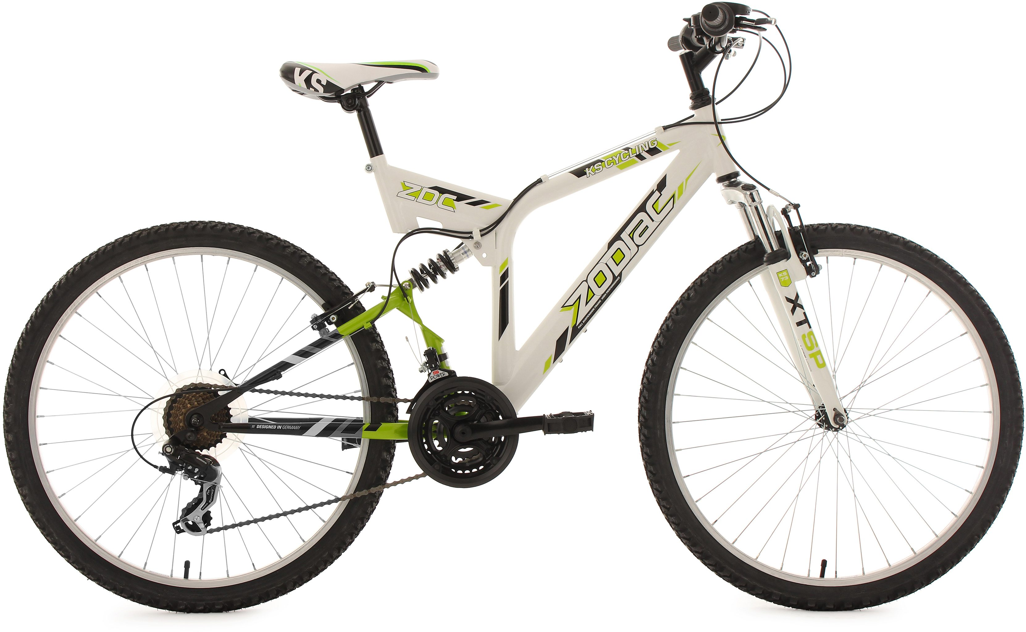KS Cycling Fully-Mountainbike, 26 Zoll, 21 Gang-ShimanoTourney Kettenschaltung, »Zodiac«