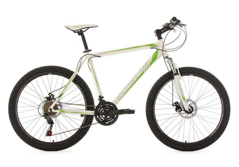 KS Cycling Hardtail-Mountainbike, 26 Zoll, 21 Gang-ShimanoTourney Kettenschaltung, »Sharp« in weiß