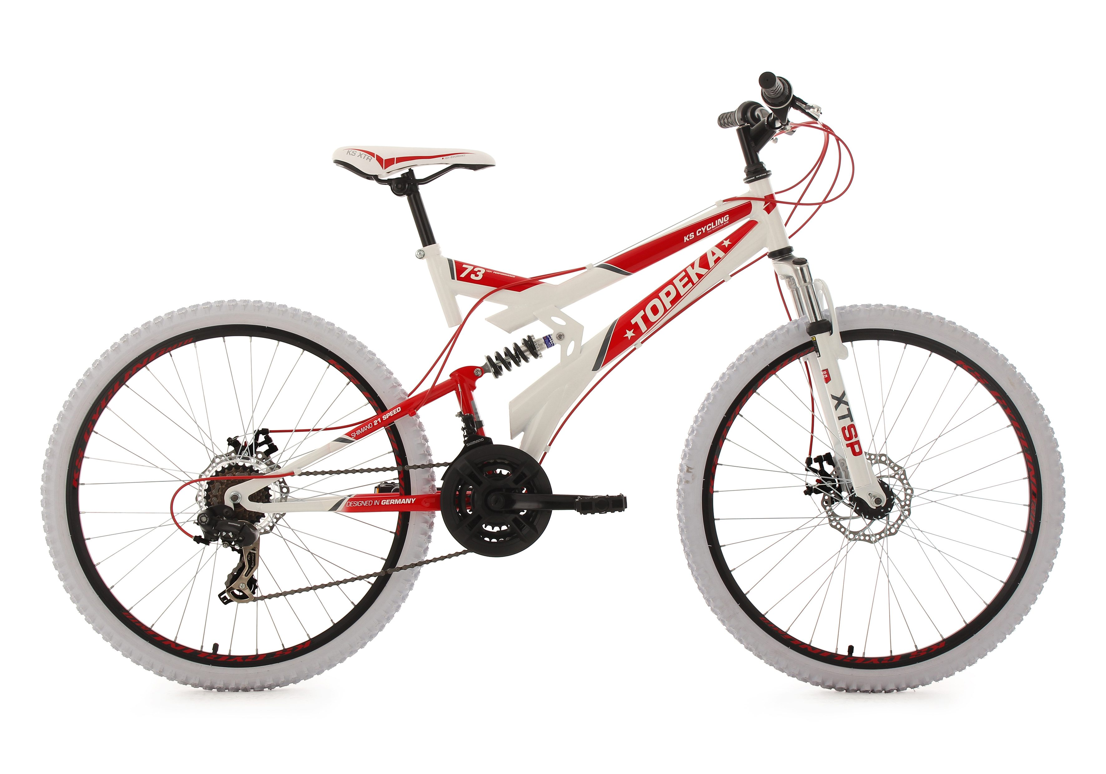 KS Cycling Fully-Mountainbike, 26 Zoll, 21 Gang-ShimanoTourney Kettenschaltung, »Topeka«