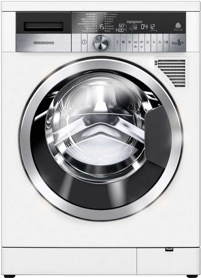 Grundig Waschtrockner GWD 59405, A, 9 kg / 6 kg, 1.400 U/Min in weiß