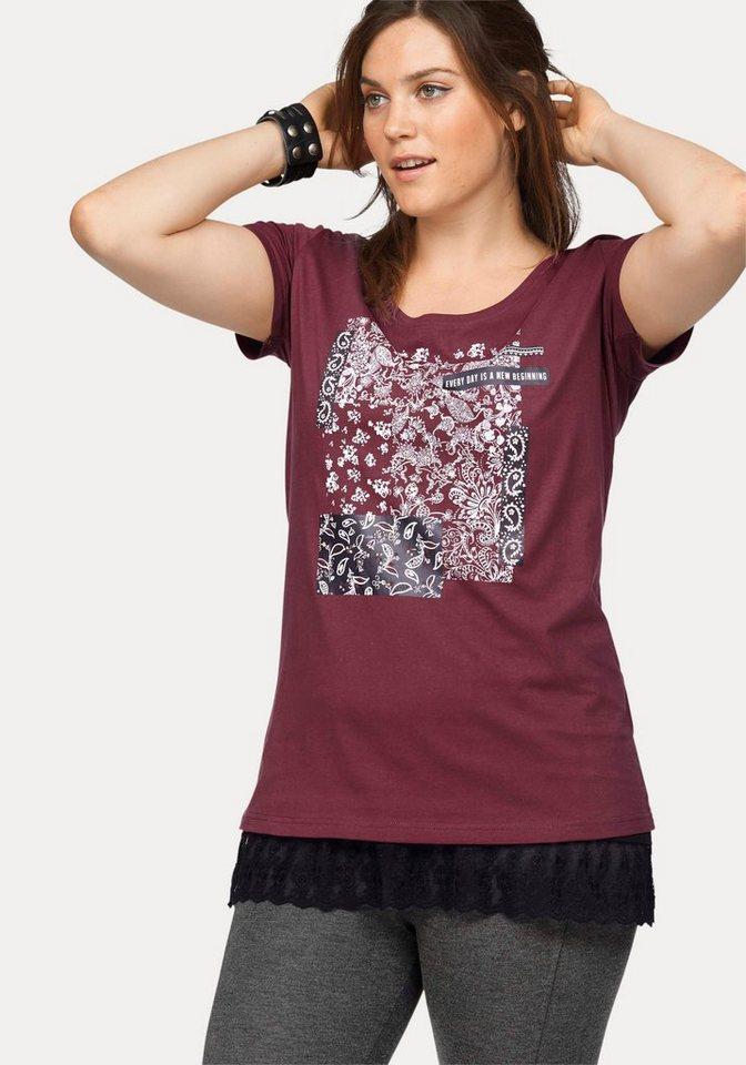Boysen's T-Shirt aus reiner Baumwolle in bordeaux