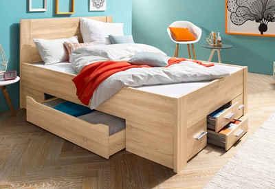 Bett 120x200 mit schubladen  Stauraumbett online kaufen » Bett mit Regal | OTTO
