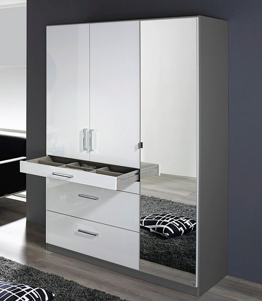 rauch kleiderschrank mit spiegel online kaufen otto. Black Bedroom Furniture Sets. Home Design Ideas
