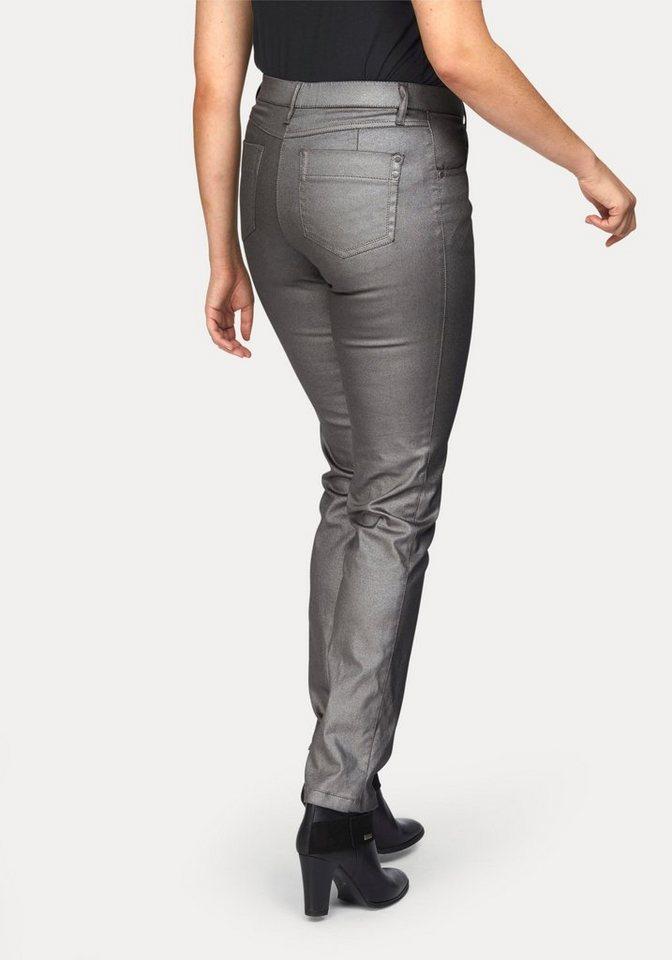 KjBRAND 5-Pocket-Jeans »Betty« in goldfarben