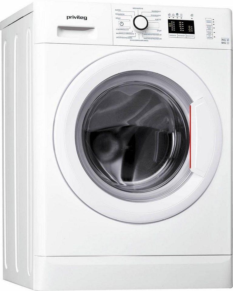 Privileg Waschtrockner PWWT 7514, A, 7 kg / 5 kg, 1400 U/Min in weiß