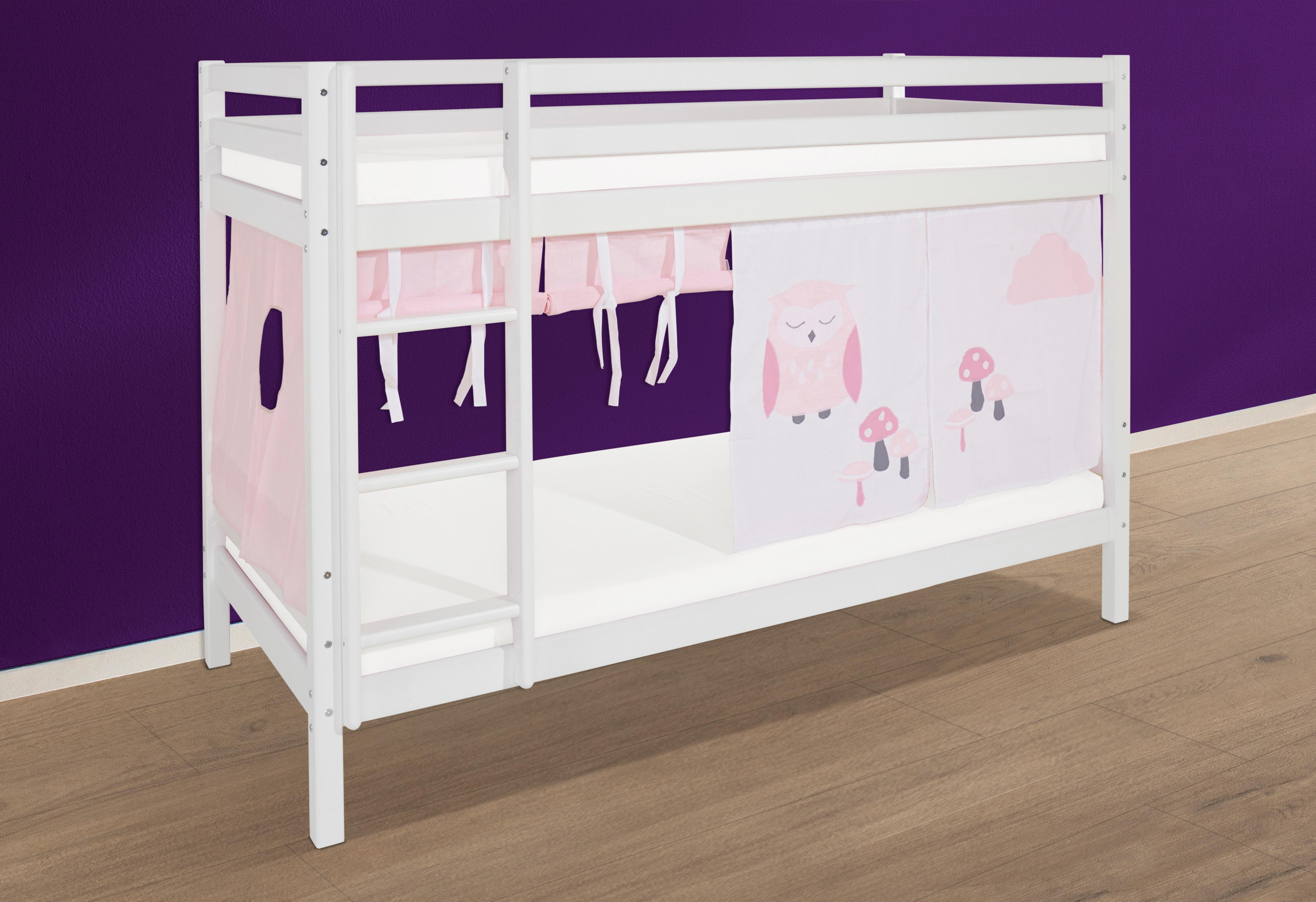 Etagenbett Weiß Mit Bettkasten : Etagenbett luna kinder doppelstockbett mit treppe und bettkasten