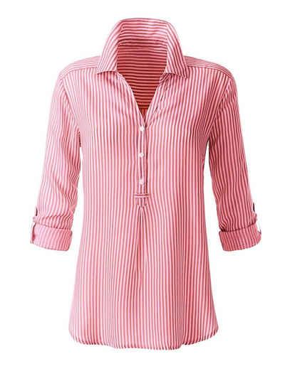Buntes Kurzarm-Shirt im modischen Hawaii-Look weiß Damenmode 36 38