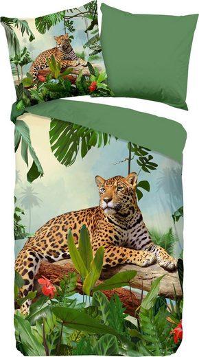 Wendebettwäsche »Jungle«, good morning, mit Leopard