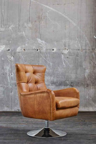 Kasper-Wohndesign Esszimmerstuhl »Relexa«, Leder drehbar verschiedene Farben