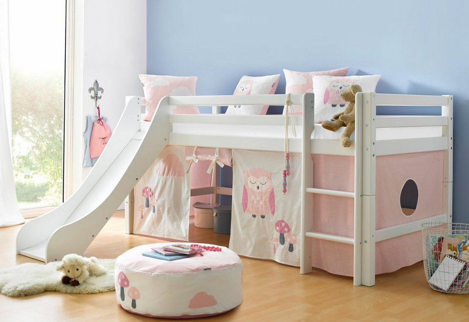 hoppekids halbhohes bett eule online kaufen otto. Black Bedroom Furniture Sets. Home Design Ideas