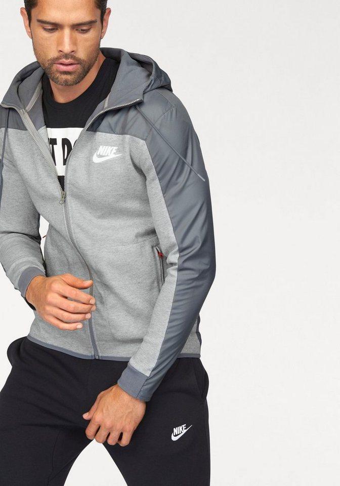 Nike Kapuzensweatjacke »NSW HOODIE FULLZIP SSNL« aus festem Material in grau