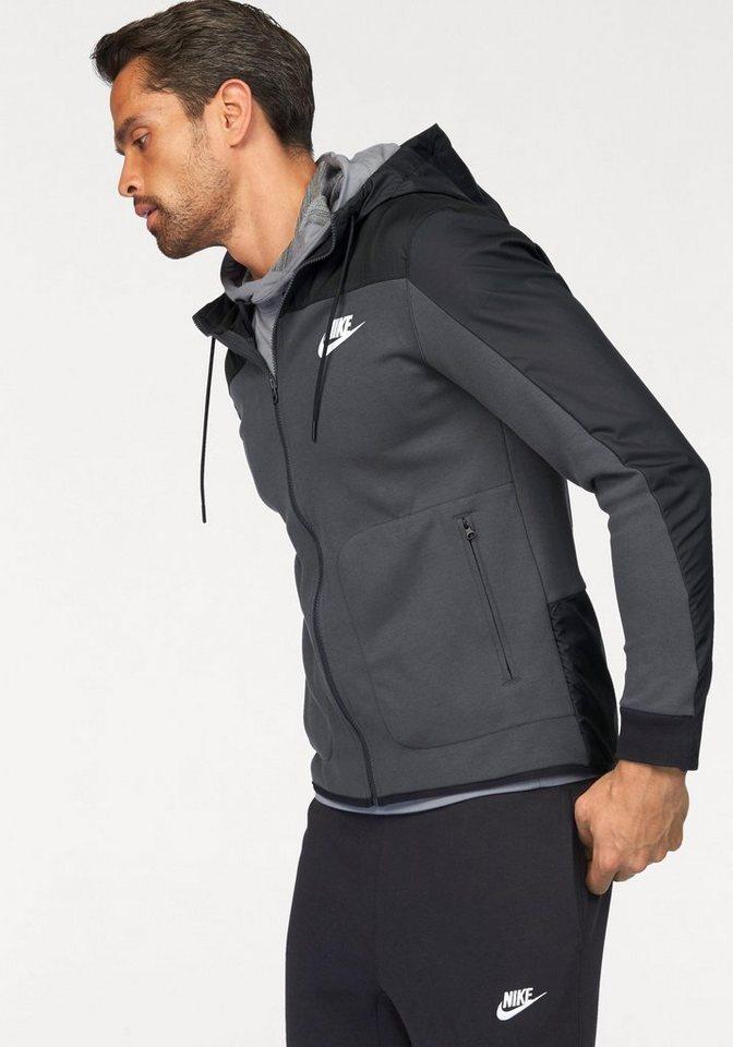 Nike Kapuzensweatjacke »NSW HOODIE FULLZIP SSNL« aus festem Material in anthrazit