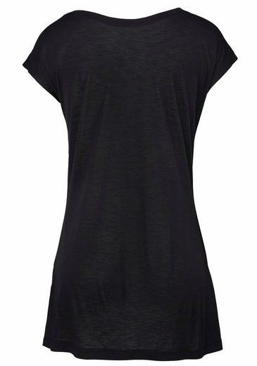 LASCANA Strandshirt mit Print