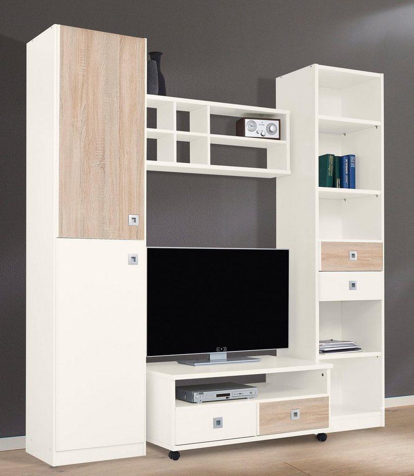 """Wimex Apartment-Set """"Split"""" (4-tlg.) in weiß/struktureichefarben hell"""
