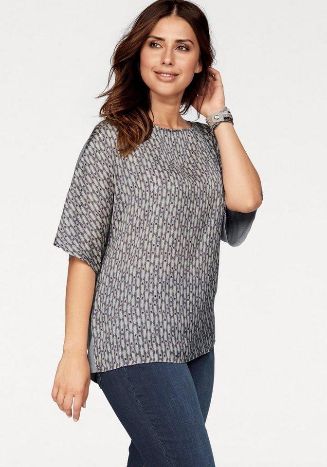 Triangle Blusenshirt »Kurzarm T-Shirt« in grau-bedruckt